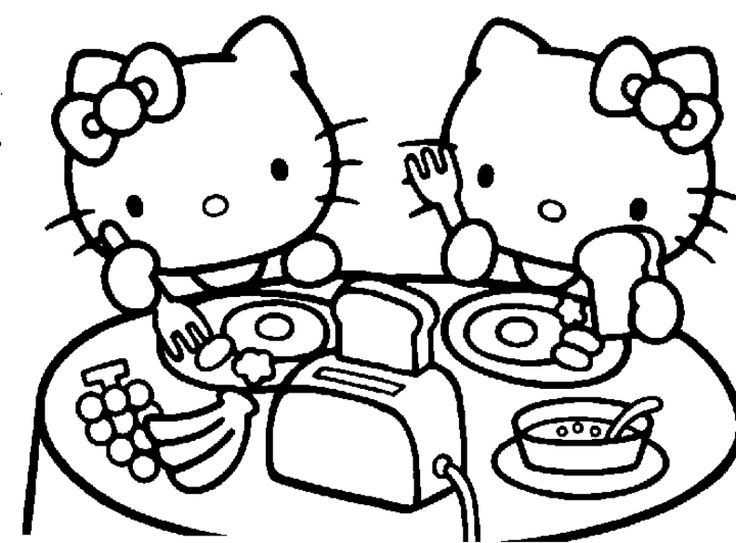 18 best Hello Kitty Ausmalbilder images on Pinterest  Hello kitty