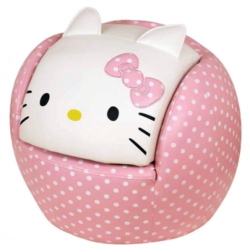 {Hello Kitty Peek-A-Boo Chair and Ottoman} OMG. the head is the ottoman! so stinkin' cute!