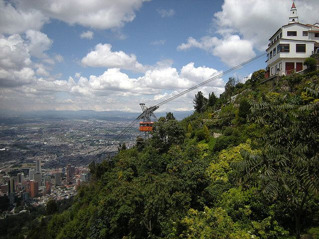 Monserrate Church, located at the top of the mountain in downtown Bogota, Colombia