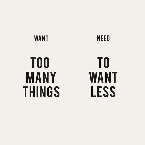 Need To Want Less (By: Erin Hanson)