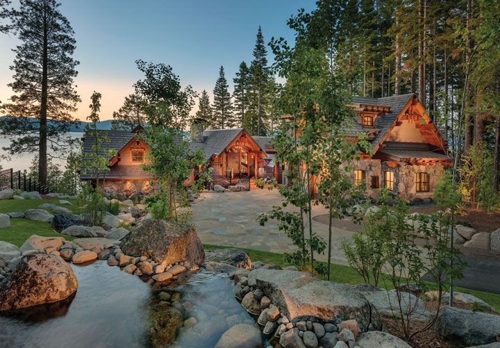 This West Shore home opens to breathtaking views of Lake Tahoe.