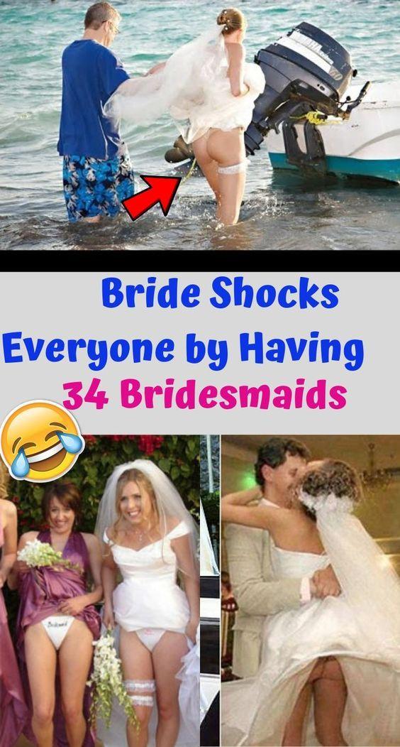 Braut erschüttert alle, indem sie 34 Brautjungfern hat