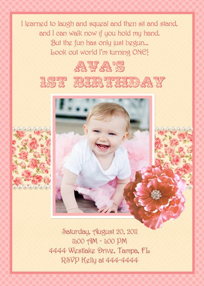 love the poem on this for evalie u0026 39 s first birthday invites