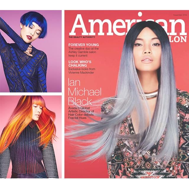 AVEDA's Global Artistic Director of Hair Colour debuts 'Fractal Hues' in American Salon.