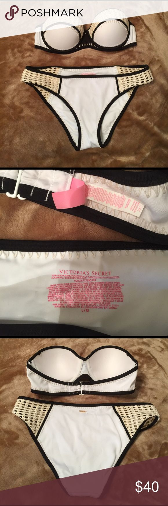 NWOT VS Swim Victoria's Secret swim! Washed once. It's just too big for me. Top is a 36C and Bottoms are a L. Victoria's Secret Swim Bikinis
