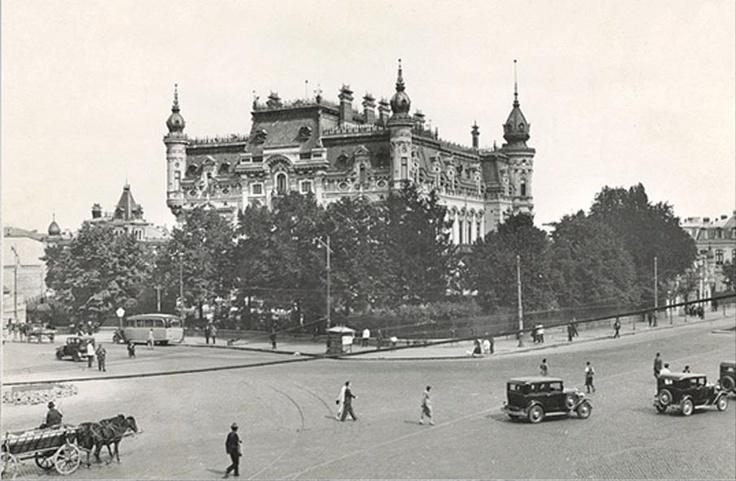 Bucuresti - Palatul Sturdza in Piata Victoriei - interbelica