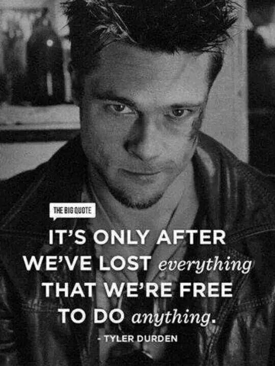 Fight club quote on freedom