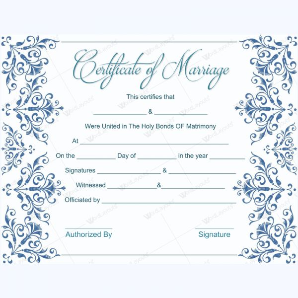 Formal marriage certificate marriage certificate template formal marriage certificate marriage certificate template marriage certificate templates pinterest yadclub