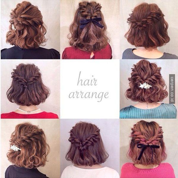 8 Cara Mengikat Rambut Setengah Panjang Bagi Para Wanita Untuk Musim Panas yang Tetap Sejuk