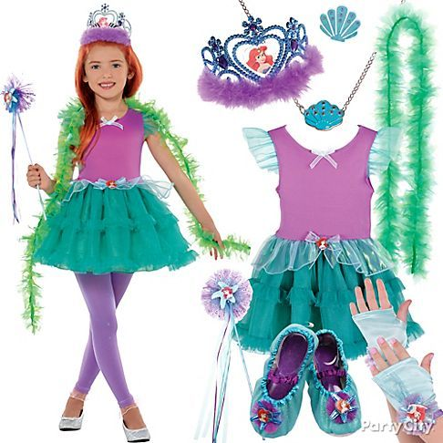 from party city be splashy let your little mermaid fan put together her own ariel costume with whozits - All Halloween Costumes Party City
