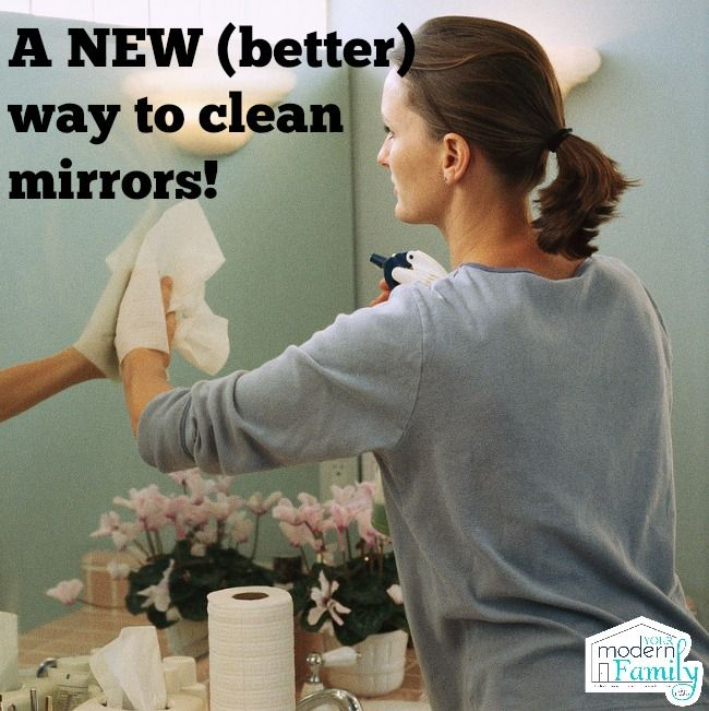 My favorite new way to clean mirrors!