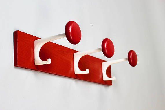 Mid Century Modern Garderobenhaken Kleiderhaken 3er Set Haken Rot Schonbuch Garderobe Panton Eames 60er 70er Jahre Mid Century Modern Mid Century Statement Wall