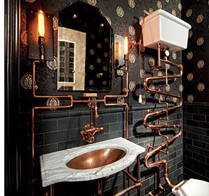 A Loo Fit for Doctor Who: Steampunk Bathroom - Fine Homebuilding Article