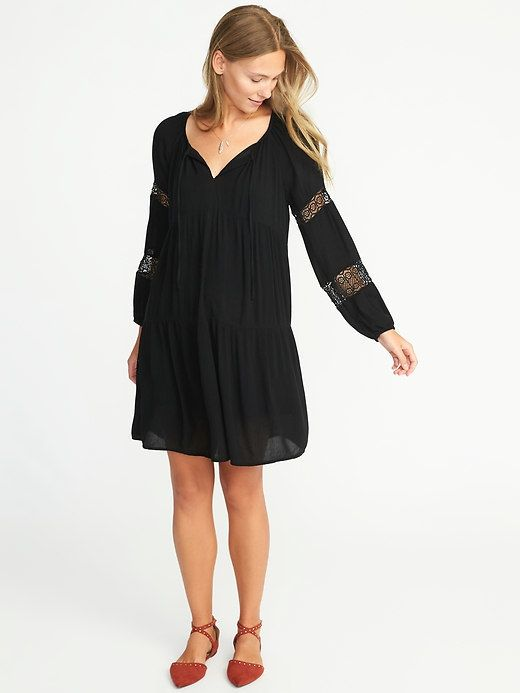 Old Navy Lace-Sleeve Boho Swing Dress for Women