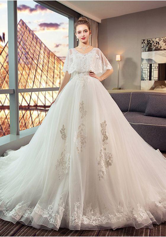 d18390d9b4f2c  Dress Zone Vネック 着痩せ トレーンドレス 妊娠 ウェディングドレス 編み上げスタイル ウエスト調整