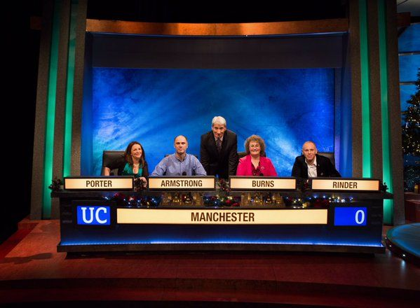 University challenge with Lucy Porter and Judge Rinder :O