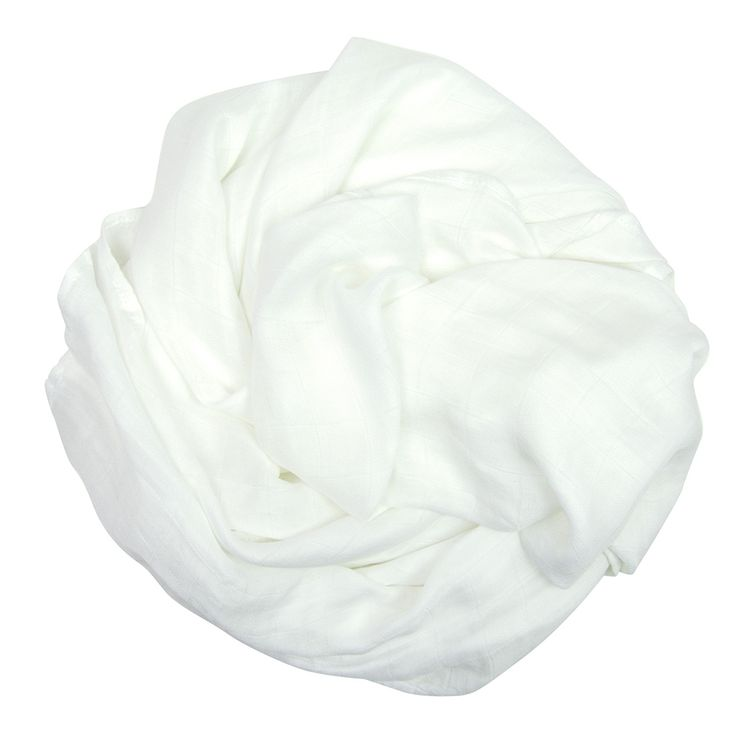 Bamboo Muslin Colours - White