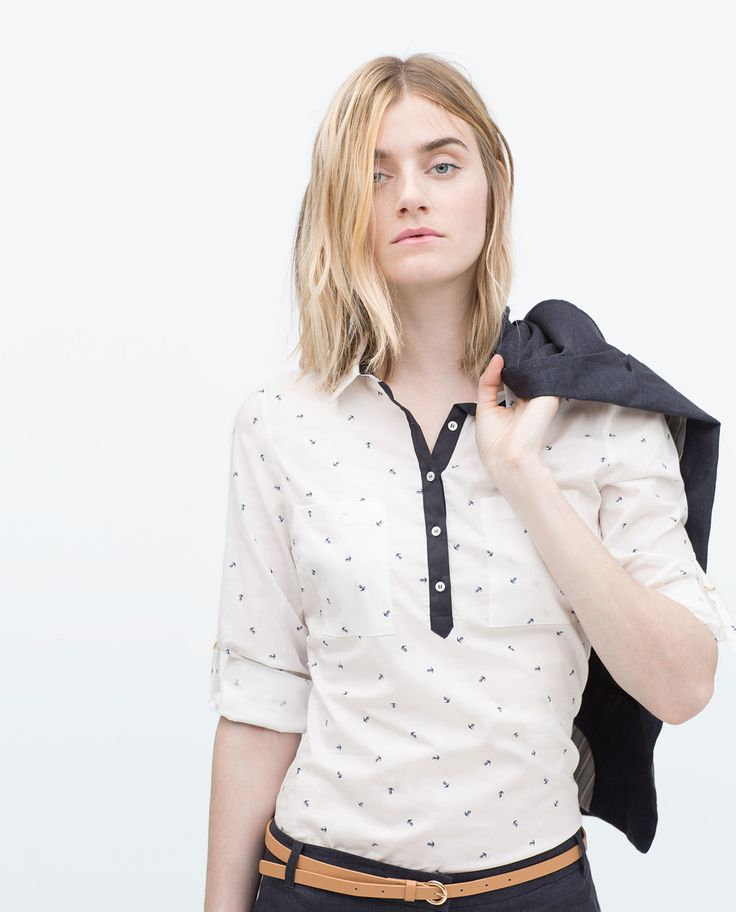 Image 1 of ANCHORS PRINT POPLIN SHIRT from Zara