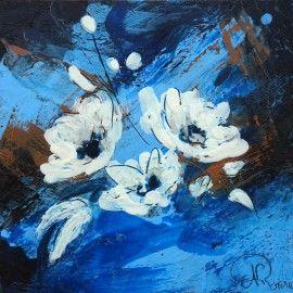 Fleurs à l'encaustique  http://www.nathalie-roure.com/