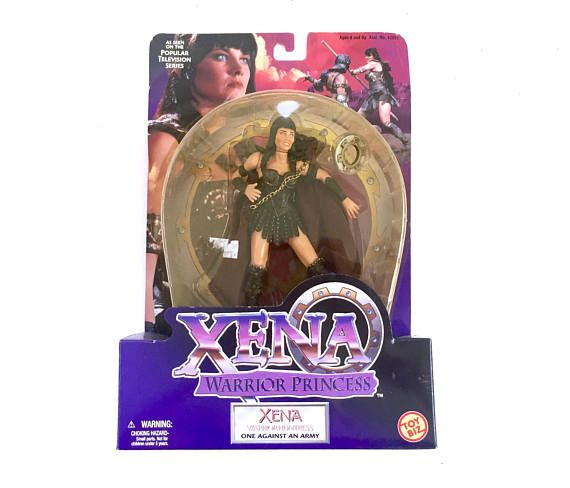 Vintage Xena Warrior Princess Huntress NIB Action Figure Toy More Cute Vintage Toys From The 80s & 90s Plus Kawaii Collectables FOR SALE at www.CuteVintageToys.com 💖   G1 My Little Pony, Polly Pockets, Popples, Strawberry Shortcake, Care Bears, Rainbow Brite, Moondreamers, Keypers, Disney, Fisher Price, MOTU, She-Ra Cabbage Patch Kids, Dolls, Blues Clus, Barney, Teletubbies, ET, Barbie, Sanrio, Muppets, Sesame Street, & Fairy Kei Cuteness.... 💖 💖 💖