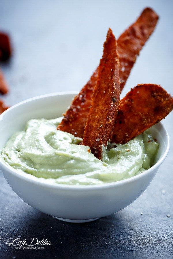 Made this Garlic Avocado Aioli sauce with a different sweet potato fry recipe and it was delicious!