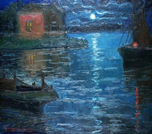 Noche de luna : Benito Quinquela Martín