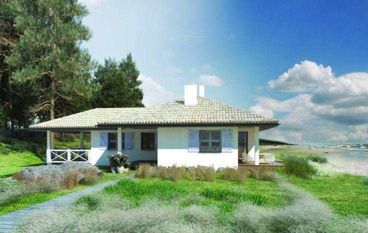 Projekty domów letniskowych to zarówno małe domki z drewna, dacze, jak i bardziej rozbudowane letnie rezydencje.