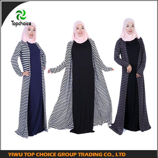 abaya design/abaya dubai/abaya online/ hot casula abaya/ stripe tow peice dress
