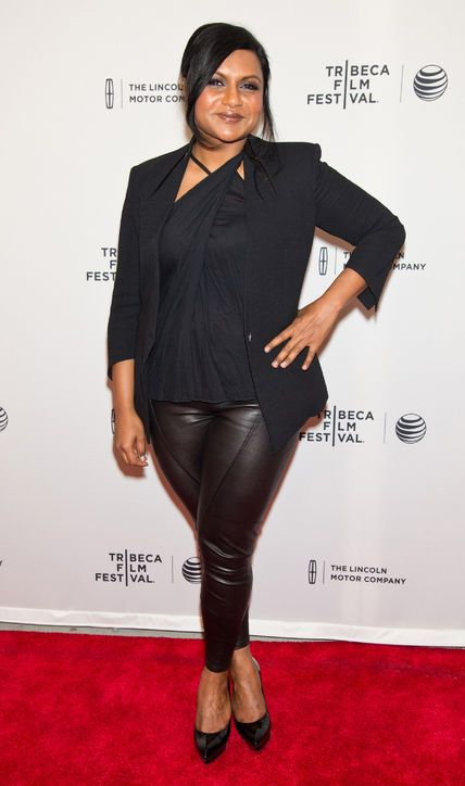 Mindy Kaling in a sexy all-black outfit at the Tribeca Film Festival