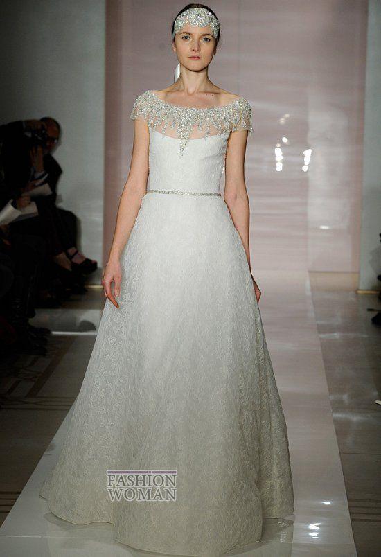 Роскошную коллекцию свадебных платьев сезона осень 2014 представила на нью-йоркской неделе свадебной моды ливанский дизайнер Reem Acra. Вниманию будущих невест была предложена серия изысканных белоснежных платьев украшенных