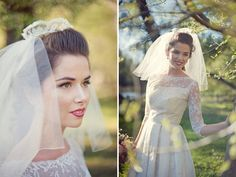 lace crown wedding veil, this site has some amazing ideas... including a purse which is made out of moss (sounds crazy... crazy cool!)