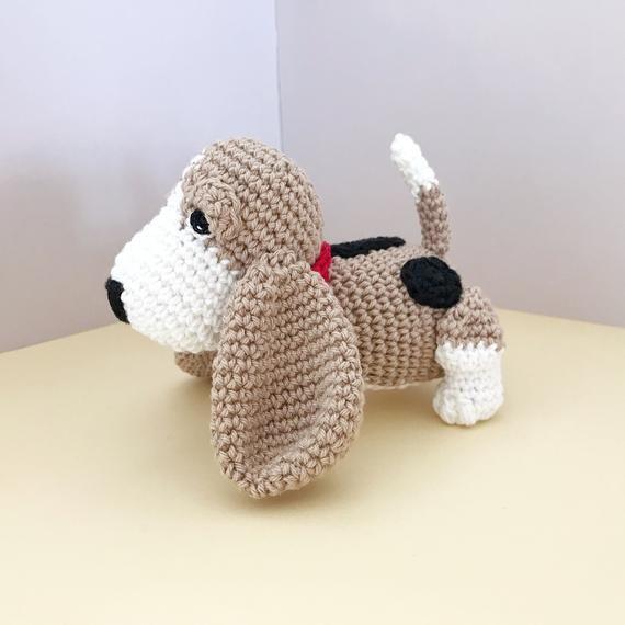 Basset Hound Puppy Amigurumi Crochet Dog Pattern PDF, Doll not ... | 570x570