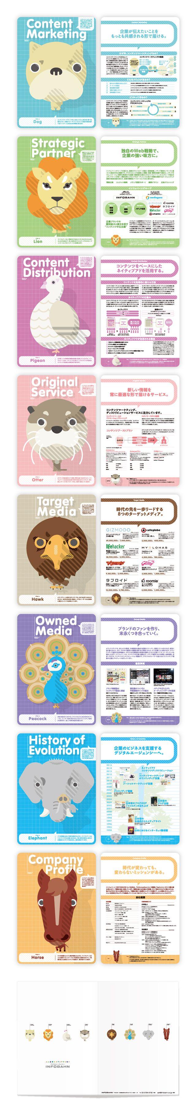 会社案内  Corporate Brochure  フラットデザインの動物を作ってみました。  Animal, flat design