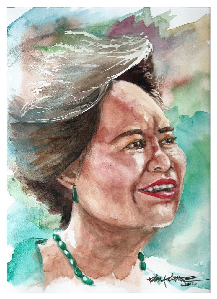Watercolor Portrait 79 of 100: Sen. Miriam Defensor Santiago — #watercolour_gallery #watercolour #watercolours #watercolour_painting #watercolour_illustration #watercolor #watercolourlovers #painting #paint #art #artwork #colors #brush #paper #ink #watercolourartist #artist #artists #schminckehoradam #holbeinwatercolours #holbein #schmincke