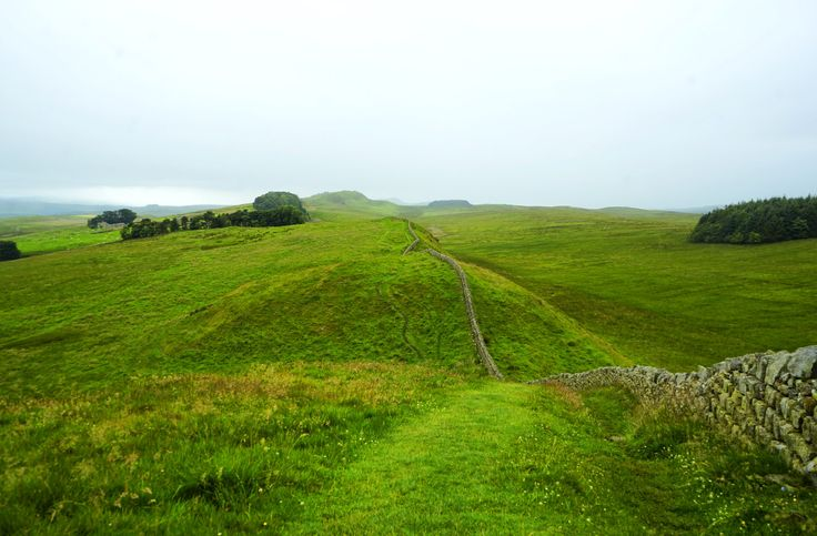 Hadrians Wall in the rain