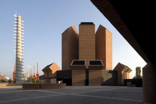 "Church ""Santo Volto"" (2004-06) in Torino, Italy, by Mario Botta"