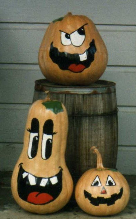 Some Pumpkins I Painted years back for Halloween ~Sweet Taboo~