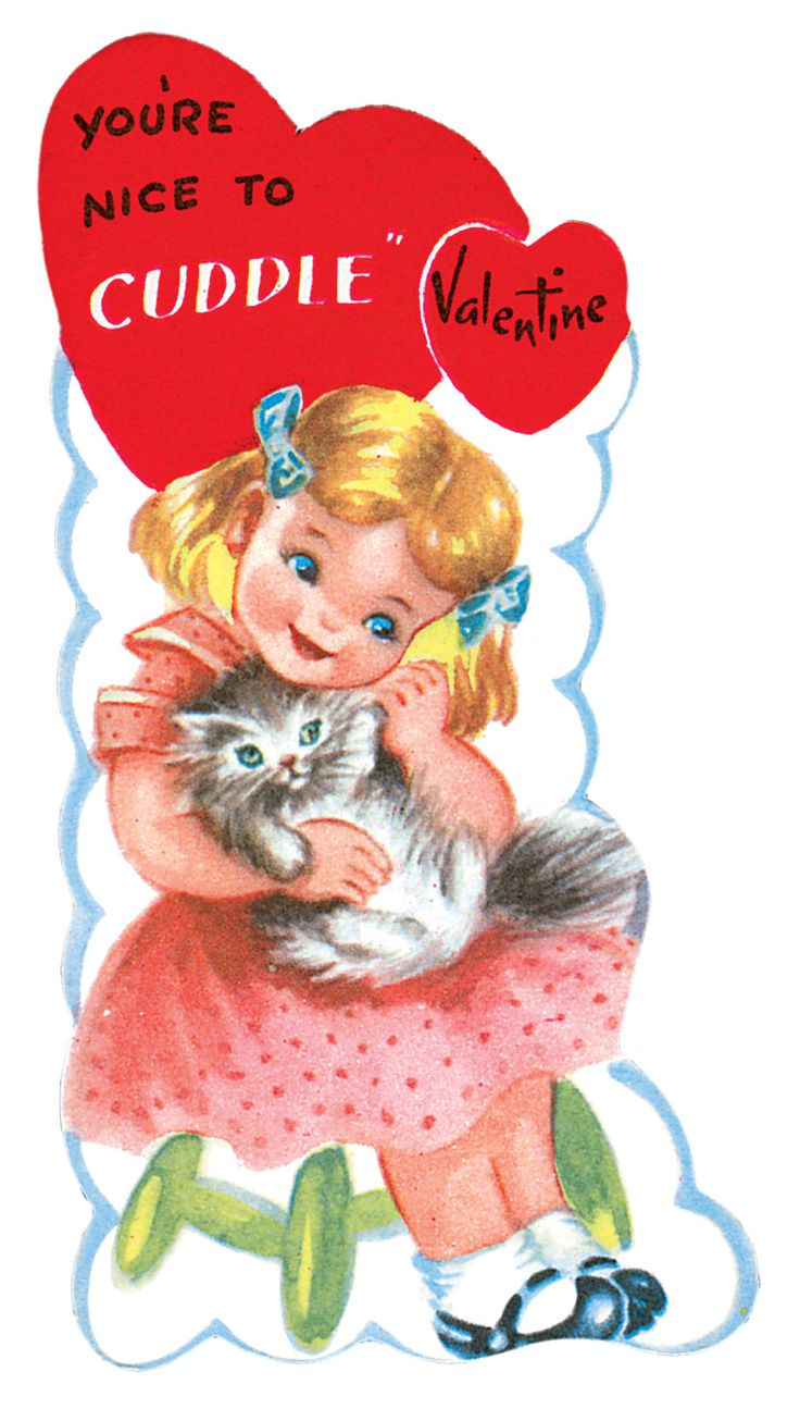 483 best images about Vintage valentine Cards Cats – Nice Valentine Cards