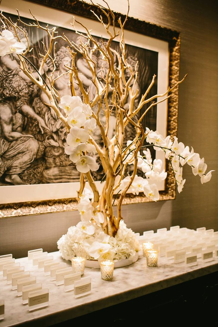 i like the simplicity and elegance of the escort card table.  Plus the tree adds a fall-ish element