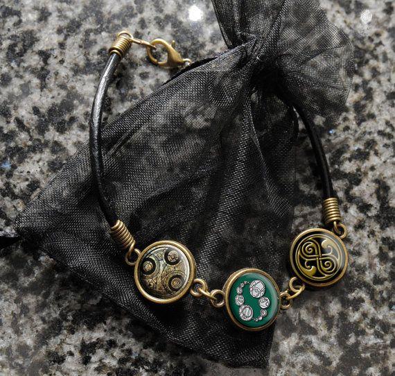 Doctor Who Gallifreyan Time Lord Seals Bracelet