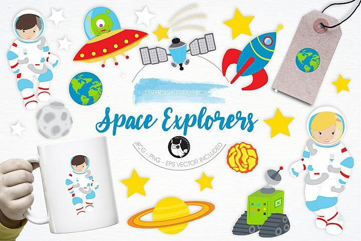 Space Explorers graphics and illustrations