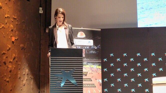 Ruth Beitia fue una de las ponentes más destacadas del Seminario Liderazgo Mujer y Atletismo celebrado ayer en CaixaForum Madrid. Más información en www.rfea.es