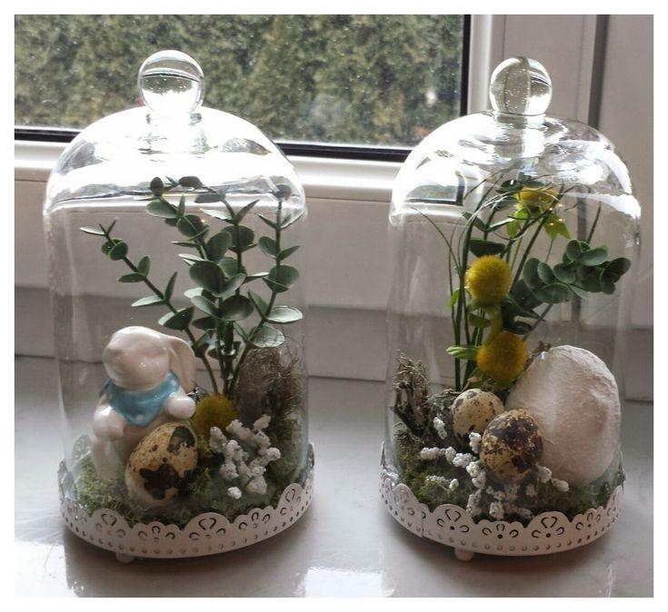für meine Fensterbänke hab ich vor ein paar Tagen gewerkelt. Die schönen Gläser gibts bei Teddy den Hasen hab ich vom Möbelix und das Ei hab ich mit Gibsbandage ummantelt :D LG Bine