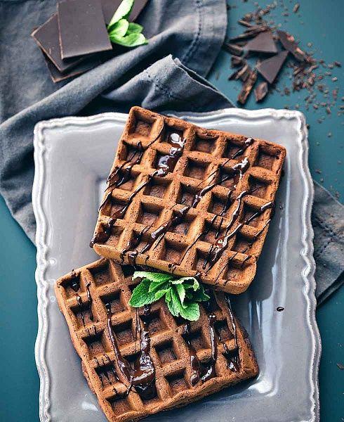 Мягкие шоколадные вафли