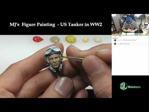 Man-Jin Kim's Figure Painting - 1/16 US Tanker in WW2 (Face painting - Part 1) - YouTube
