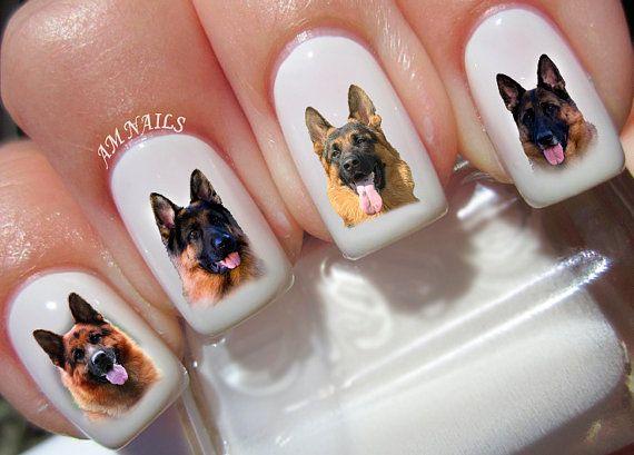 Duits Shepard hond nail stickers, heel mooi, helder stickers met unieke ontwerpen. ---------------------------------------------------------------------------------------------- ♡ Kopen geen 3 sets van nagel kunst uit mijn aanbiedingen op de dezelfde tijd ♡ ♡ & ik zal het toevoegen van een set van mijn keuze free♡ ♡ Thats 4 sets voor de prijs van 3 ♡ ---------------------------------------------------------------------------------------------- Mijn nagel stickers zeer eenvoudig toe te ...