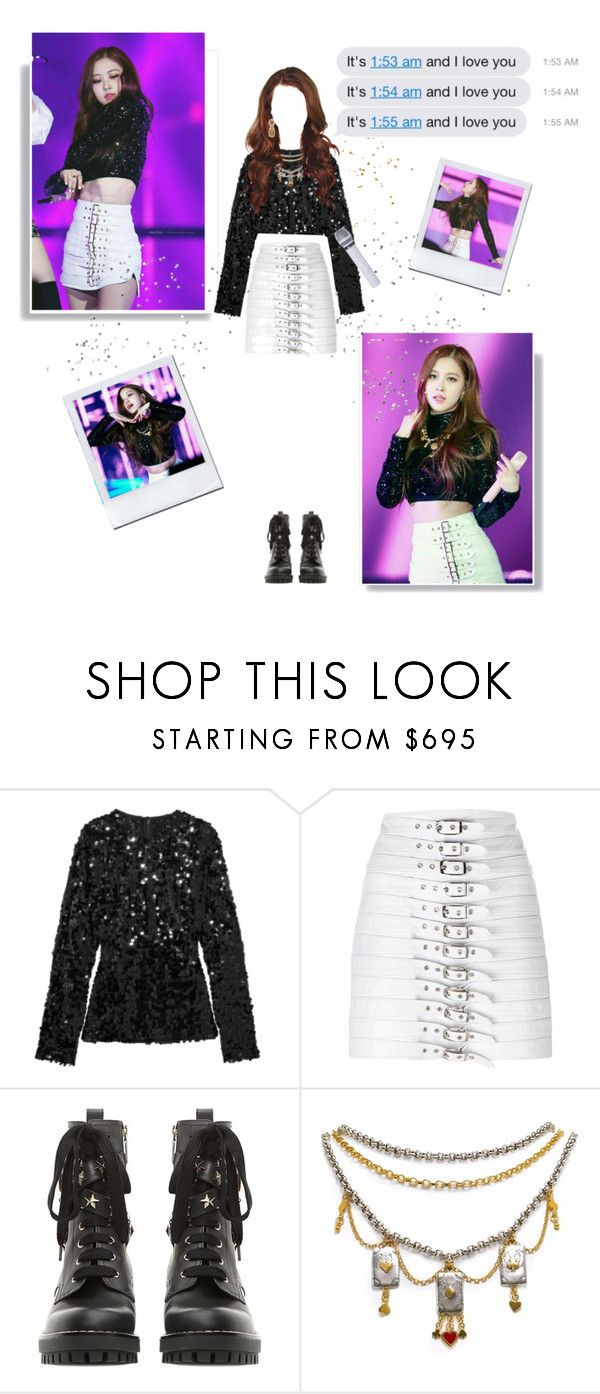 """""""Rosé • SBS Gayo Daejeon 2017      25.12.17"""" by jehi ❤ liked on Polyvore featuring Dolce&Gabbana, Manokhi, RED Valentino, Sophie Harley London and Harry Winston"""