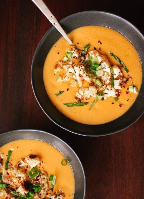 Curried Cauliflower Soup - trying this for the week!