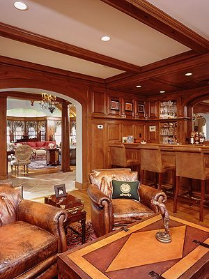 Home bar and family room designed by Westchester NY architect Michael McCann #McCann Craft, Inc.   Architects   Builders   Westchester NY   Fairfield County CT