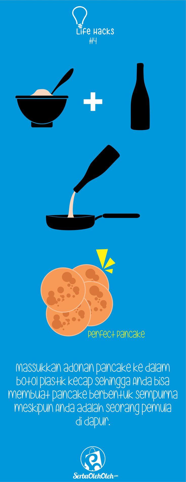 Selamat Siang SOlovers! Lagi makan siang apa nih?! Ngomong-ngomong masalah makanan, pasti pada suka, kan sama yang namanya Pancake. Yup, penganan ini terkenal enak dan mudah dibuat. Tapi tahu gak sih, cara untuk membuat pancake berbentuk sempurna dengan mudah bahkan bagi kalian yang baru dalam urusan dapur :D Langsung aja simak life hack berikut ini yak!  Jangan lupa juga ya untuk kunjungi http://serbaoleholeh.com website jual beli oleh-oleh dan barang khas paling kece :)  #lifehack…